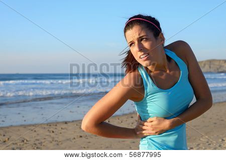 Athlete Suffering from cramp or injury