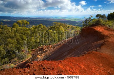 Red Soil On Kauai Hawaii