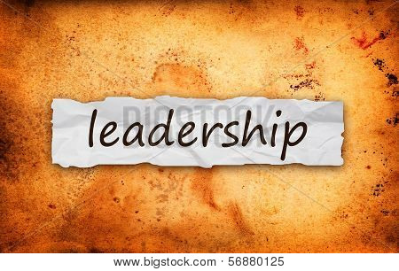 Leadership Title On Piece Of Paper