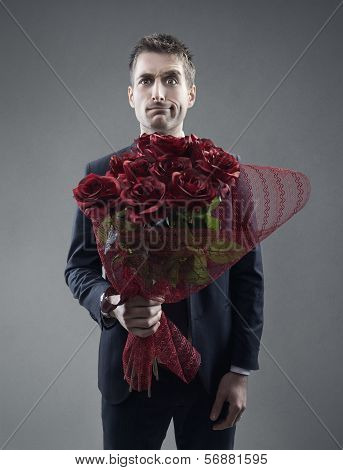 Suitor And Roses