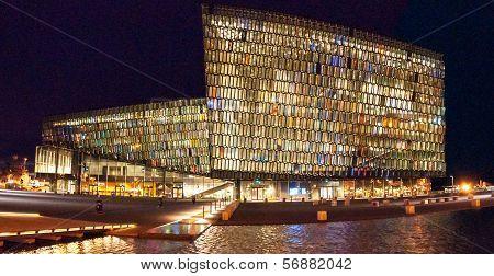 Reykjavik Opera House in the night
