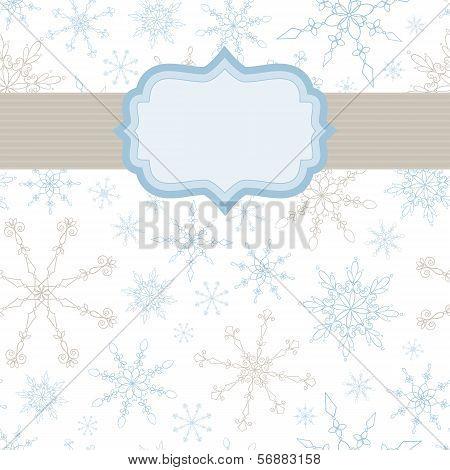 Snowflake Banner Background