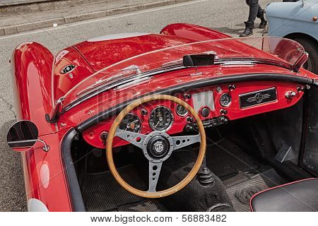 Dashboard Of An Old Racing Car