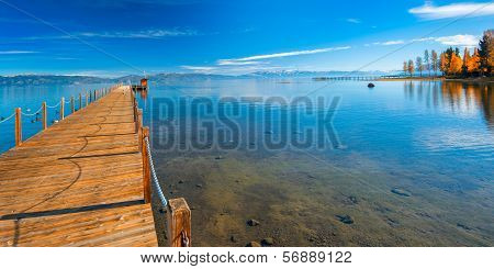 Pier In A Lake