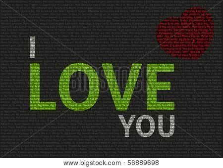 Typographic Valentine Card