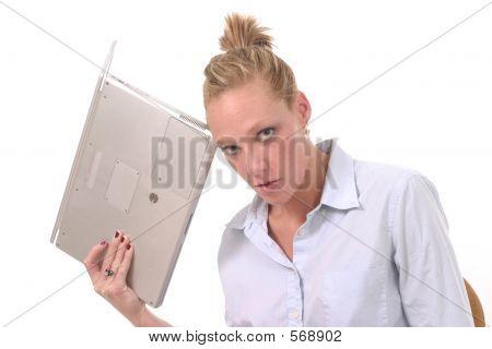 Woman Throwing Laptop 2