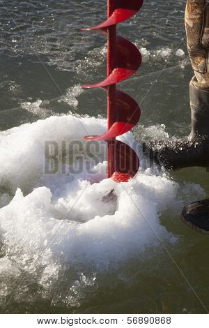 Ice Auger Drilling Hold