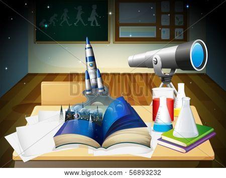 Illustration of a laboratory