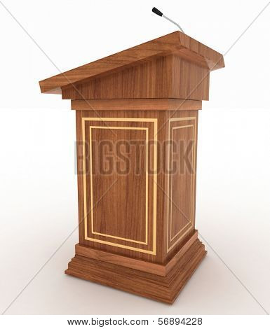 Podium for sermons on a white background
