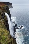 stock photo of kilt  - Kilt Rock waterfall - JPG