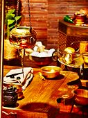 picture of panchakarma  - Luxury ayurvedic spa massage still life - JPG
