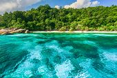 foto of aquamarine  - Crystal clear water of tropical island Similan Thailand - JPG
