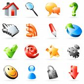picture of internet shop  - Set of 16 vector icons for web - JPG