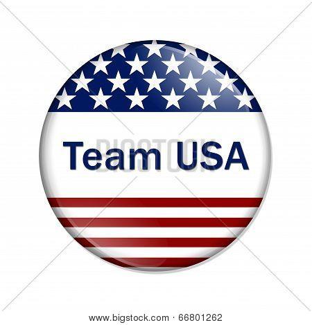 Team Usa Button