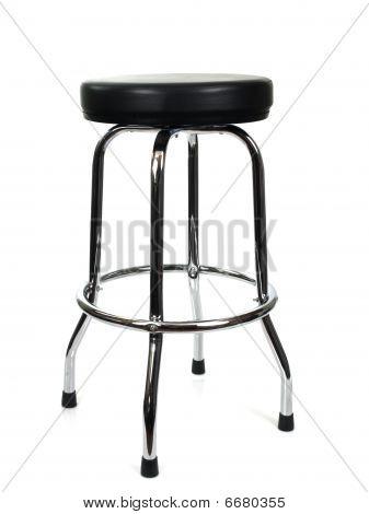 Black and chrome stool