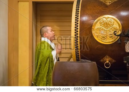 japanese Monk at the Shichi-go-san Ceremony