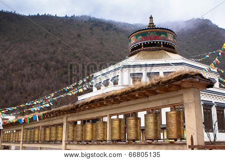 Ancient Temple In Tibet Style At Blue Moon Valley