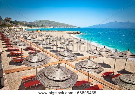 Beautiful  Mango beach in Saranda, Albania.