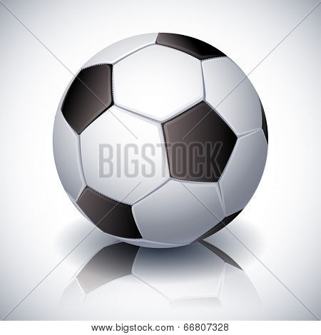 Vector illustration - soccer ball on white background