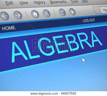 Algebra Concept.