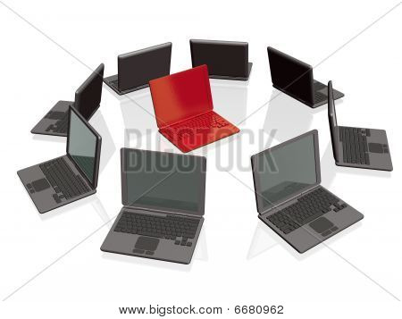 Laptops - Red And Grey