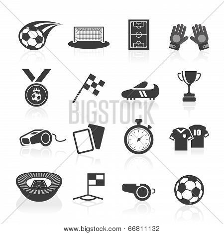 Soccer icon set.