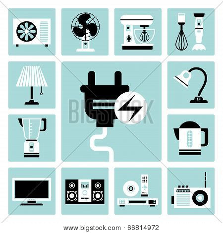 Household Appliances Icons