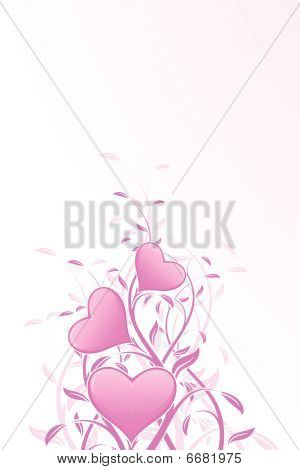 Floral Valentine's Day background