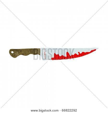 cartoon bloody kitchen knife