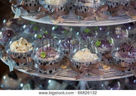 Colourful Cupcakes On Cakestand In A Wedding Party