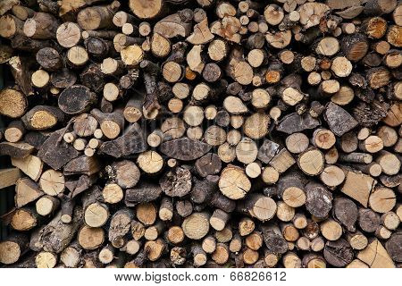 Big Pile Of Sawn Logs