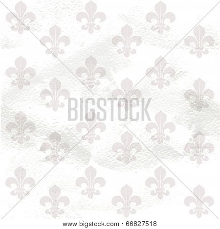 Fleur-de-lys seamless  background on grange paper