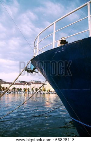 Ship docket in Zadar port.