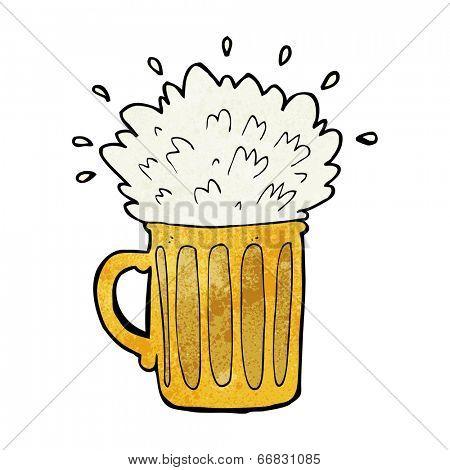cartoon frothy beer
