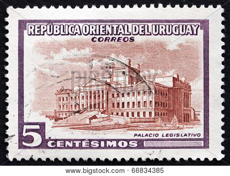 Postage Stamp Uruguay 1954 Legislature Building, Montevideo