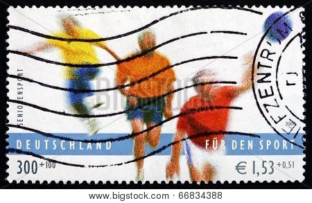 Postage Stamp Germany 2001 Sports For Senior Citizens
