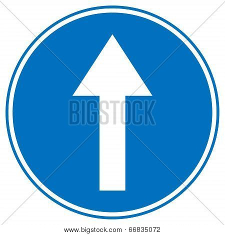 Road Sign Straight