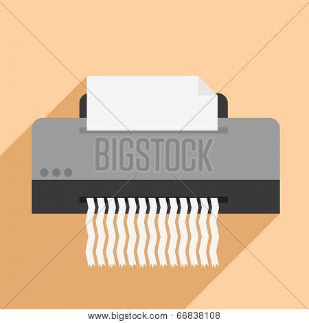 minimalistic illustration of a paper shredder, eps10 vector