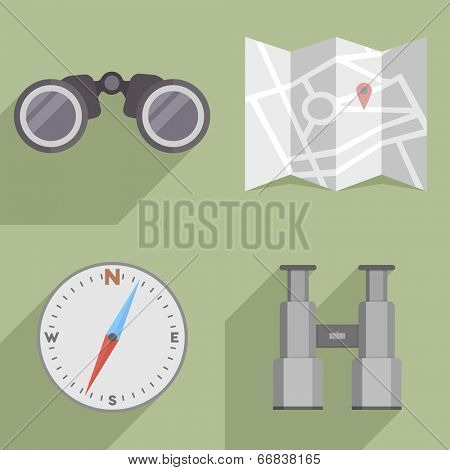 minimalistic illustration of a navigation icons, eps10 vector