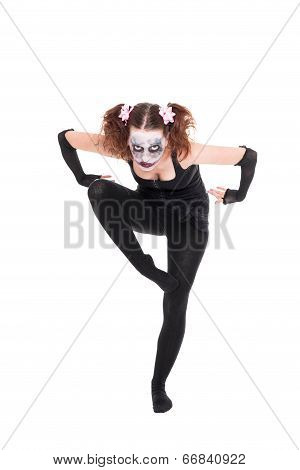 Scary Ballet Dancer Is Posing