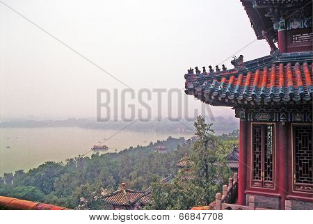 Aerial View Of Longevity Hill In Summer Palace, Beijing, China.