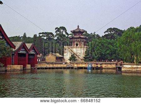 Ornamental, Beautiful Buildings At Longevity Hill In Summer Palace, Beijing, China.