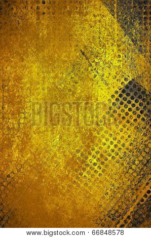 abstract gold grid background mesh with grunge texture design
