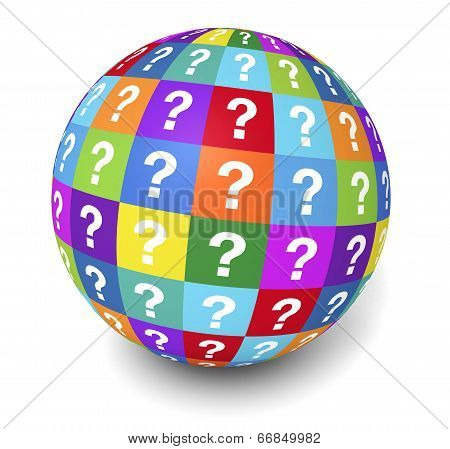Question Mark Globe Concept