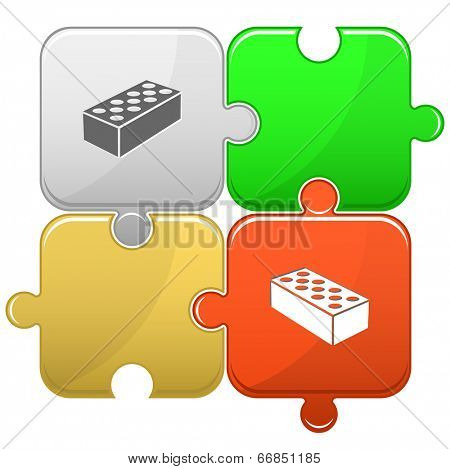 Hollow brick. Vector puzzle.