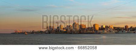 Panorama Of Halifax Nova Scotia At Sunset