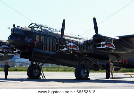 Avro Lancaster, Painted With Markings Of Ropey, Another Lanc From The 419 Squadron, For The Skyfest