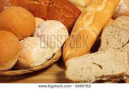 Bread Board And Breadbasket