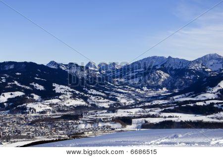 Bavarian Alps In Winter