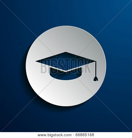 illustration of square academic cap